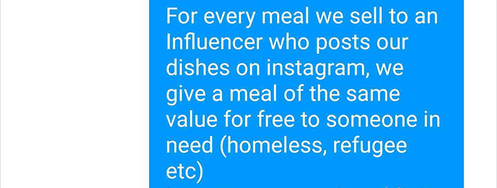 Restaurant Shows How To Shut Down Influencers Begging For Free Food For Exposure