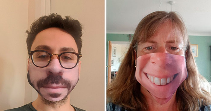 People Share Their Custom Face Mask Fails And Here Are 14 Of The Creepiest And Funniest Ones