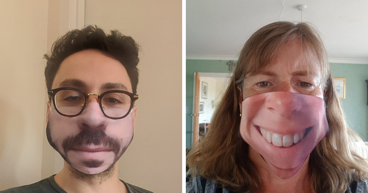 People Are Posting Pics To Show Their Face Mask Design Fails, And They're Hilarious