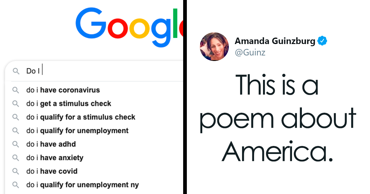 """""""This Is A Poem About America"""": People Are Sharing Google Search Autofill Results That Sum Up American Life Right Now - bored panda"""