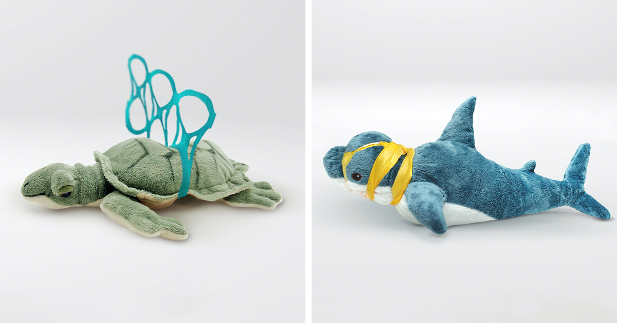 IKEA Toys Get Transformed To Reflect The Cruel Reality Of Plastic Pollution - bored panda