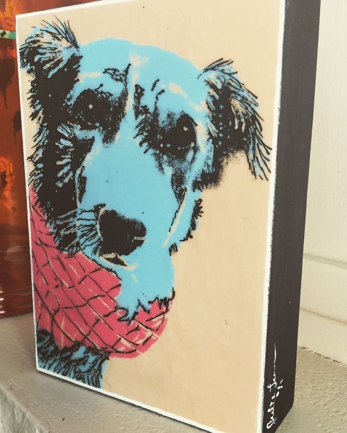 Screen Printed Photo Transfer Of My Dog Sydney