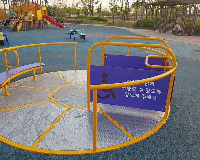 This Wheelchair Accessible Playground Carousel