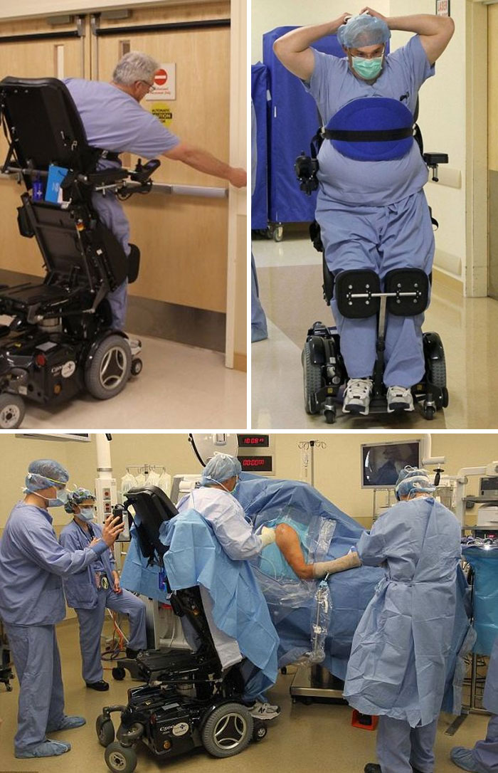 Ted Rummel, Amazing Doctor Paralyzed From The Waist Who Can Still Perform Surgeries Thanks To Remarkable Stand-Up Wheelchair
