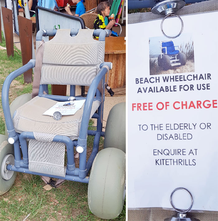 This Surf Shop Offers Free Rental Of A Beach Wheelchair To Elderly Or Disabled People