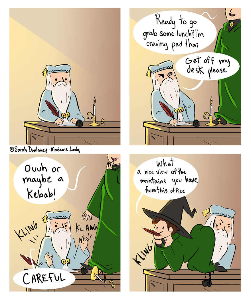 I Imagine What Happens In 'Harry Potter' Universe When No One's Watching (10 Comics) Part 2
