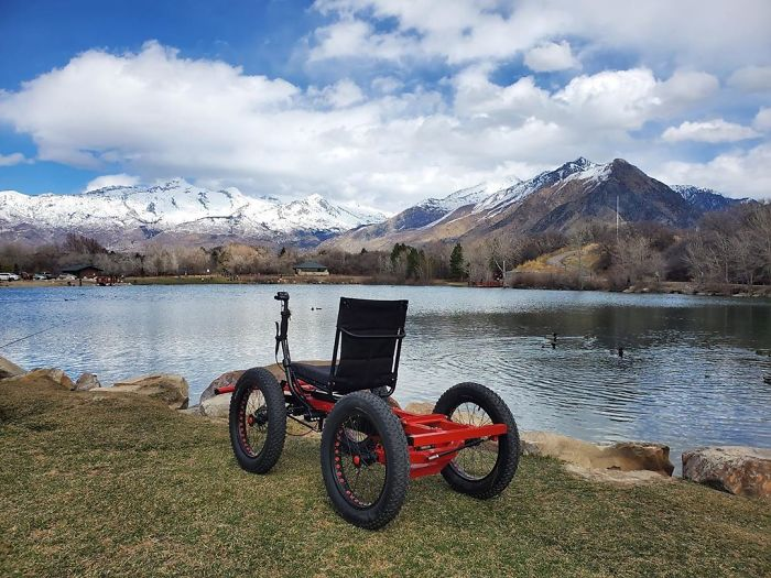 """Man Designs An Off-Road """"Wheelchair"""" So That His Wife Can Go Places She Never Imagined, It's Now Up For Mass-Production"""