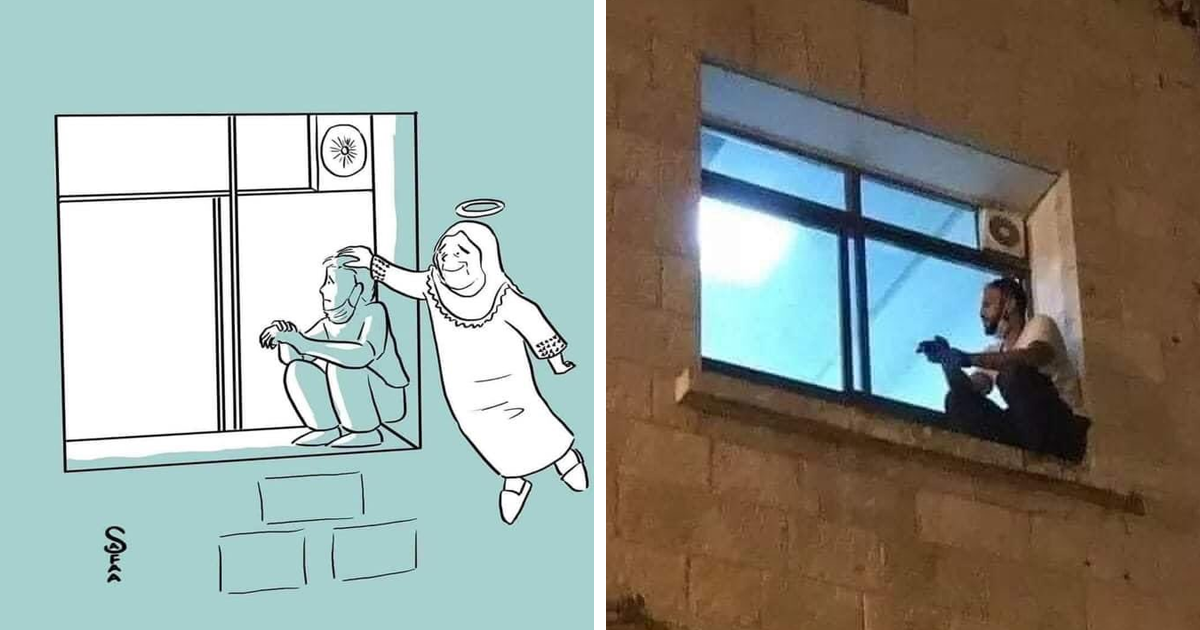 Man Watched Over His Mom From Outside The Hospital Day And Night Until She Died Due To Coronavirus
