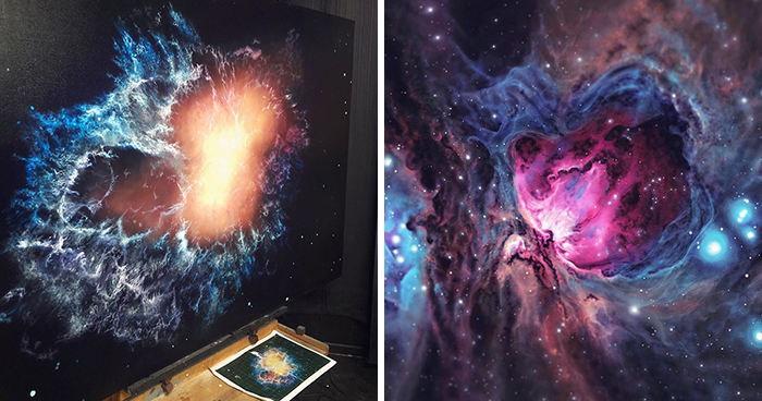 Artist Quits Desk Job To Create Mesmerizing Space Paintings, 4.5 Years Later, Her Portfolio Is Beautiful And Massive (39 Pics)