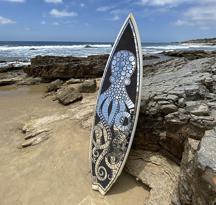 I Create Mosaic Designs On Surfboards (27 Pics)