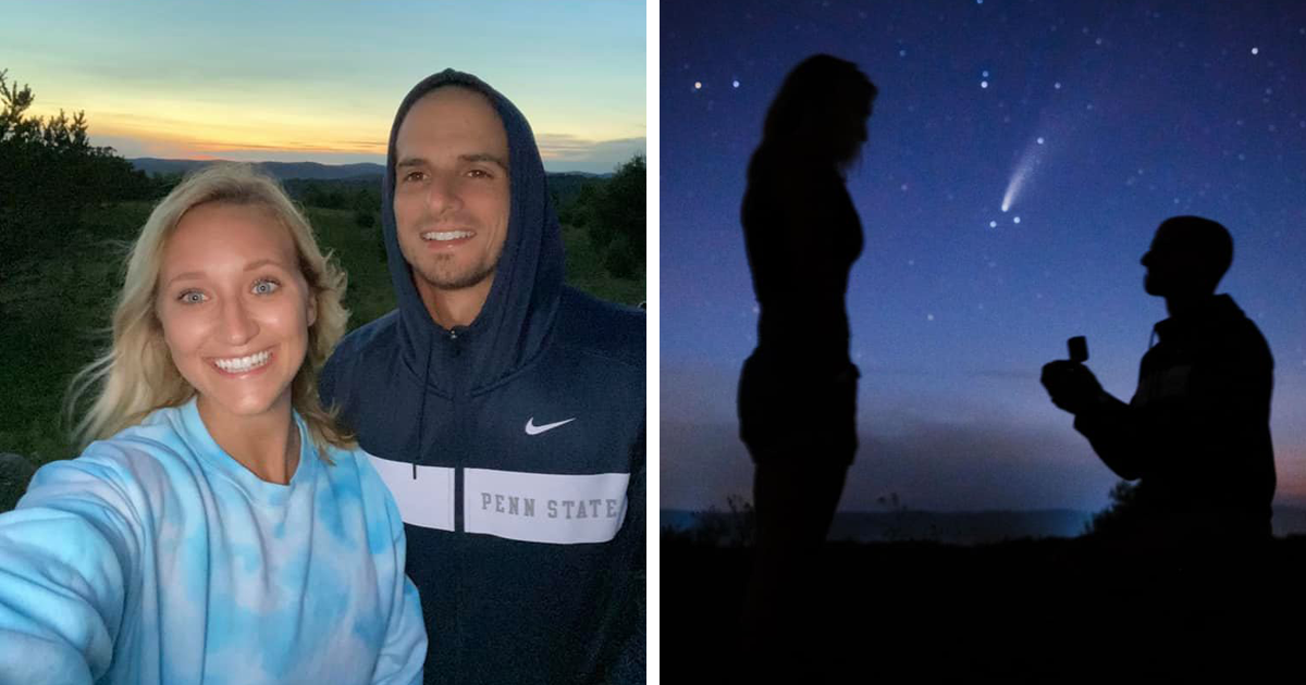 Man Proposes To His Girlfriend Under A Comet That Only Appears Once In 6,800 Years