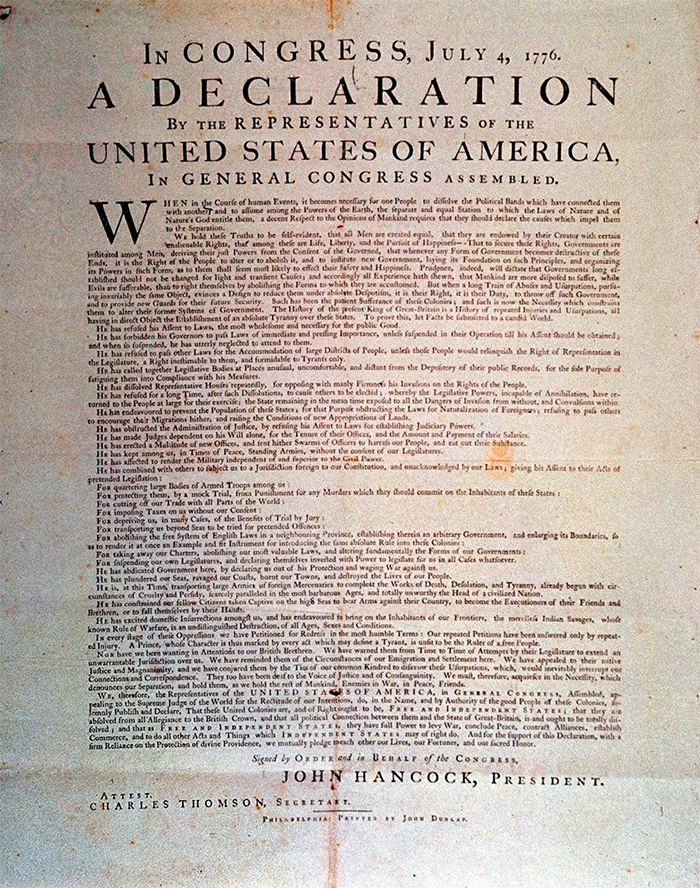 Declaration Of Independence—worth $2.42m
