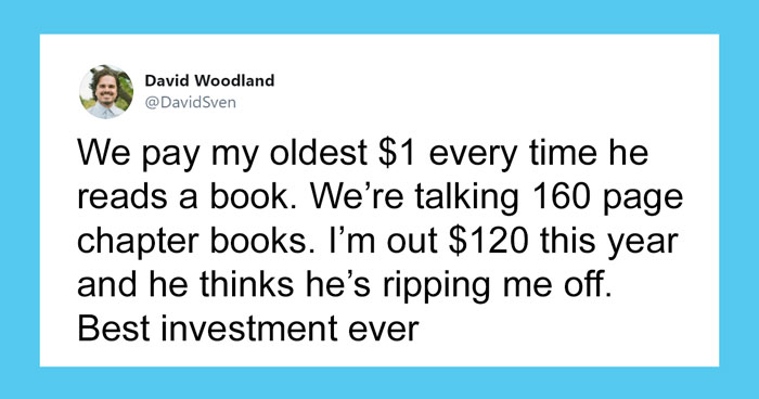 Dad Who Pays His Son $1 For Every Book Read Posts That He's Already Out $120, Divides The Internet On This Parenting Tactic