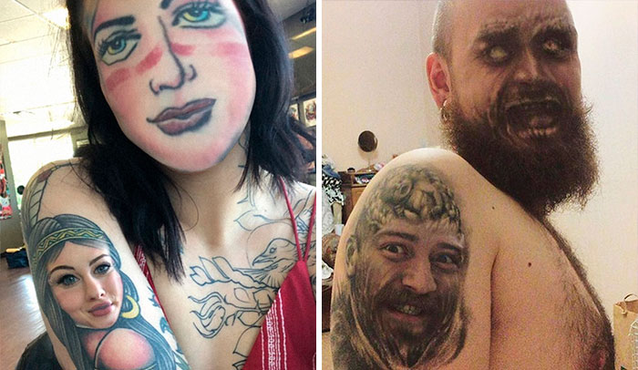 People Are Face Swapping Tattoos On Their Body, And Here Are 30 Unsettling Results