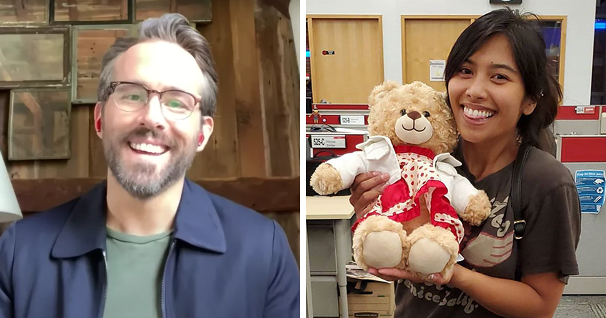 Ryan Reynolds Reunites Woman With Teddy Bear That Had Her Late Mother's Voice Recording On It After $5,000 Reward Offer