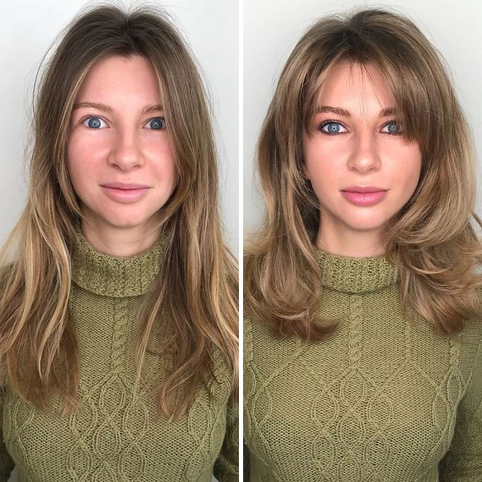 How Women Do Their Own Makeup Vs. How A Professional Does It (30 Pics)