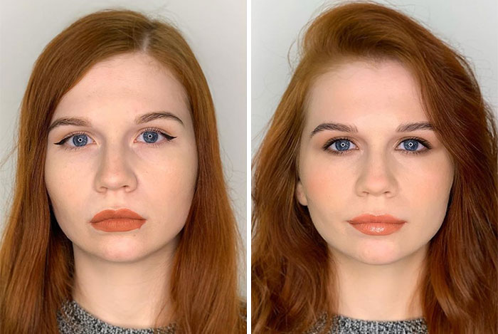 How Women Do Their Own Makeup Vs. How A Professional Does It (29 Pics)