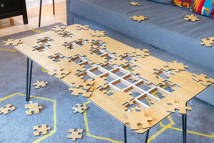 I Design Unnecessary Things No One Asked For, This Time I Created A Coffee Table That's Also A Jigsaw Puzzle