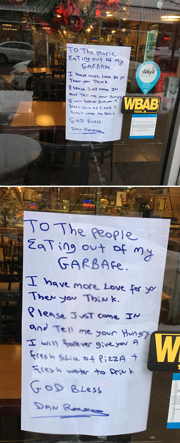 Thanks Frankie's East Aside Restaurant For Doing The Right Thing