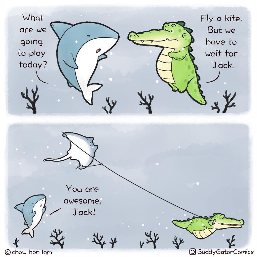 Fly A Kite, Underwater