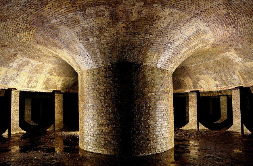 Underground Reservoir Below A Public Space, London, United Kingdon