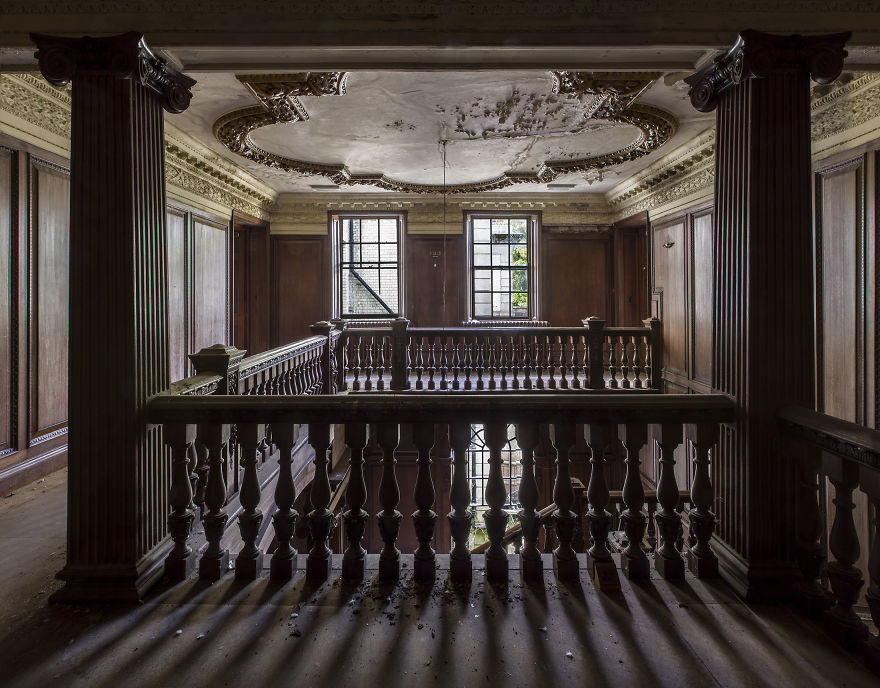 The First Floor Landing Inside An Abandoned Orphanage, United Kingdom