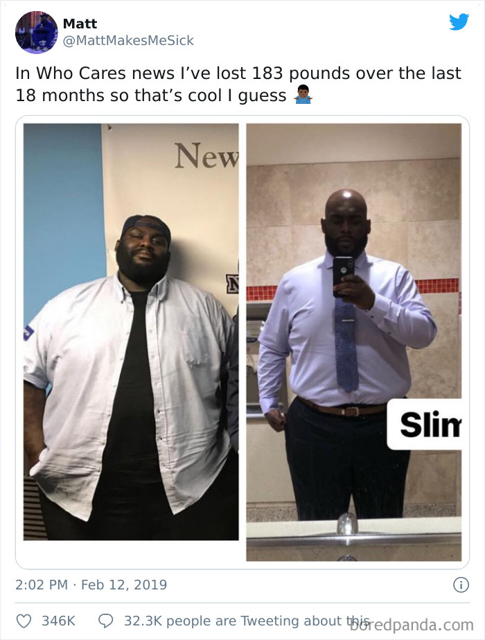 He Lost A Lot Of Pounds
