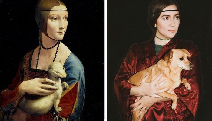 People Are Still Recreating Artwork At Home For The Museum Challenge (117 New Pics)