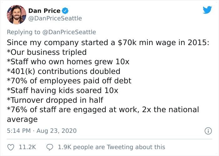 CEO Who Took $1M Paycut To Give All Employees $70K Minimum Salary In 2015 Explains How It Affected The Company