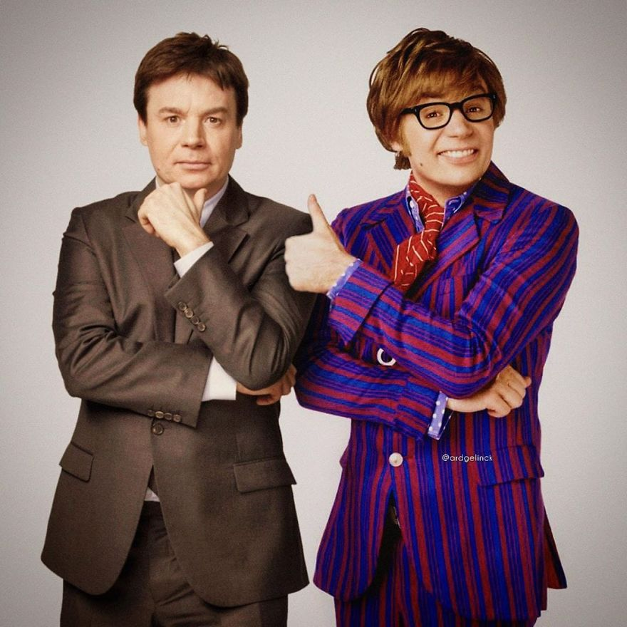 Mike Myers And Austin Powers