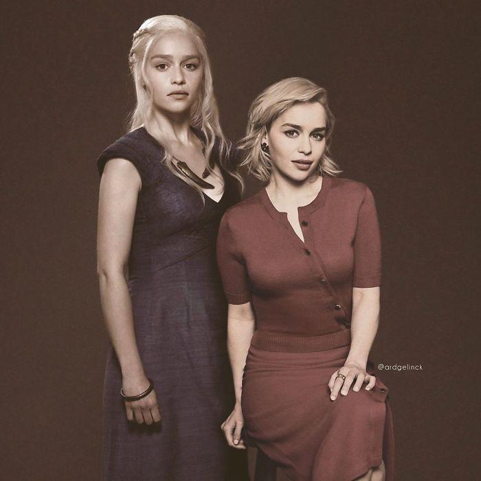 Emilia Clarke y Daenerys Targaryen
