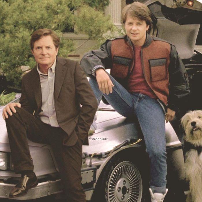 Michael J. Fox y Marty McFly