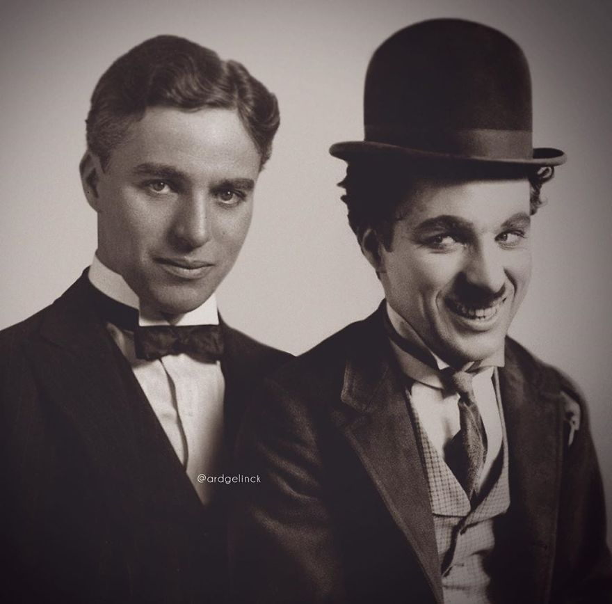 Charlie Chaplin And The Tramp