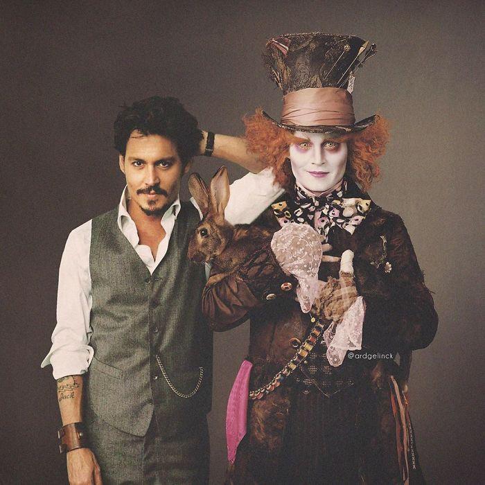 Johnny Depp y el Sombrerero
