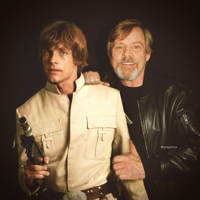 Mark Hamill y Luke Skywalker
