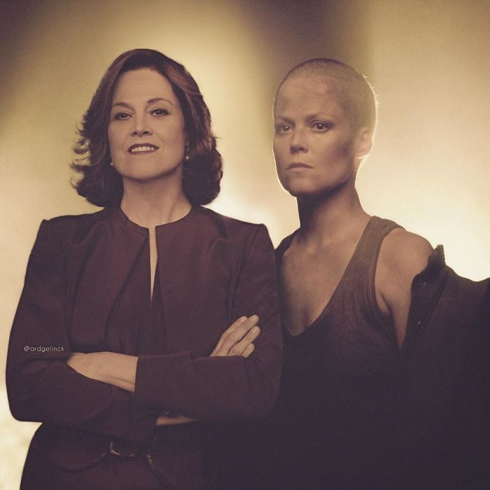 Sigourney Weaver y Ellen Ripley