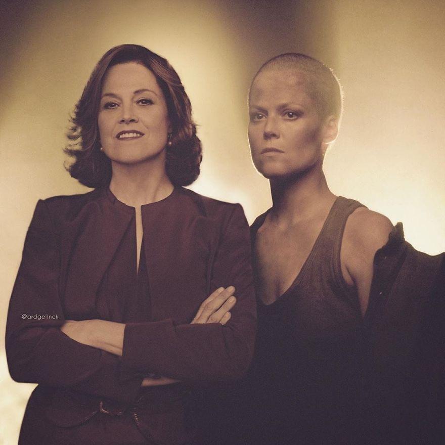 Sigourney Weaver And Ellen Ripley