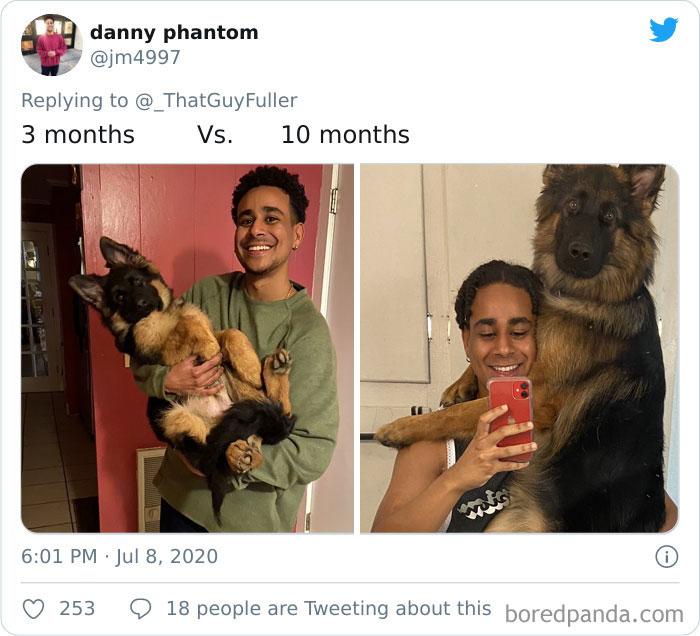 He Grew A Little