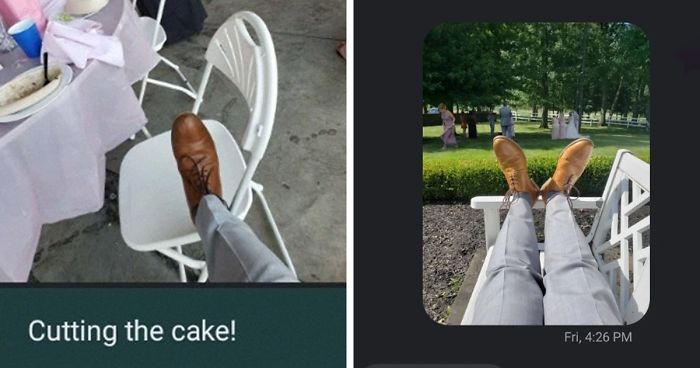 Guy Lends His Friend His Pair Of Shoes For A Wedding, Receives Funny Live Updates From Their Perspective