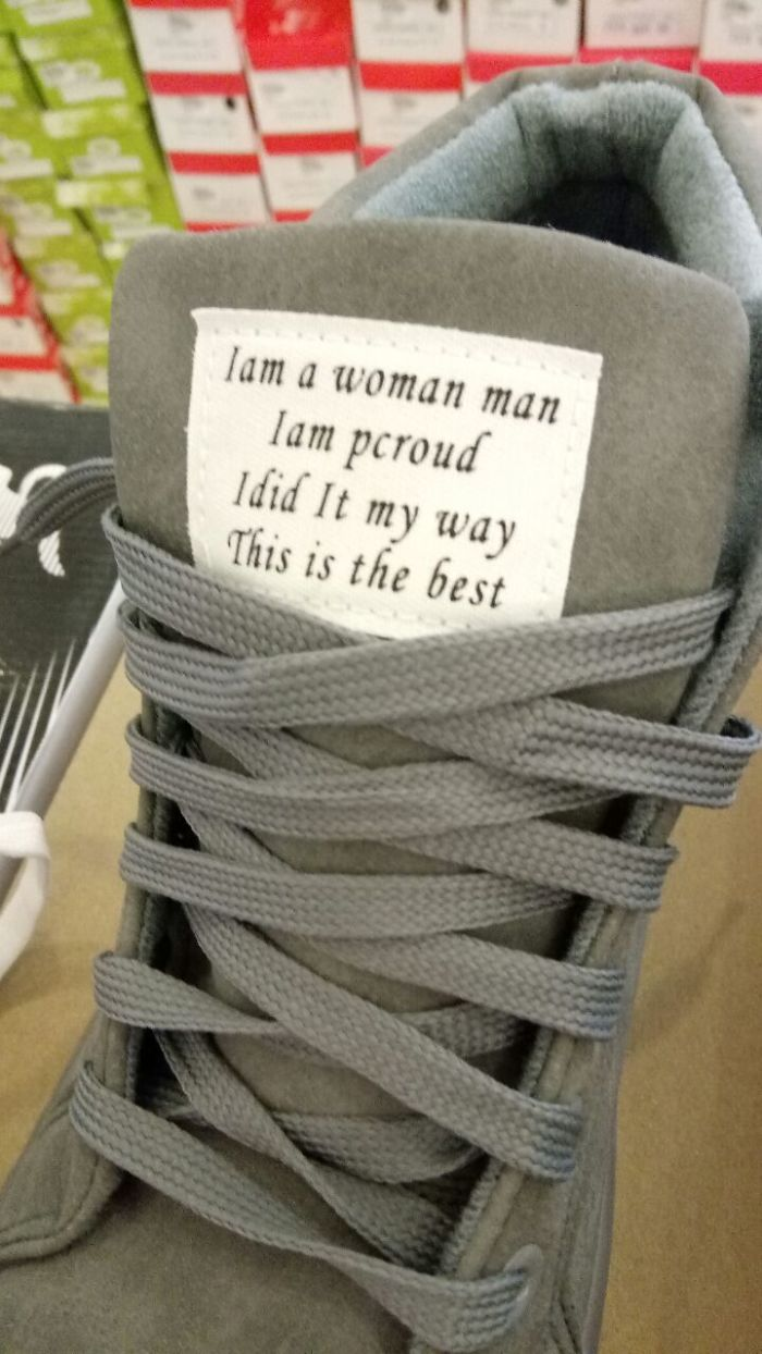 Proof Read That Inspiring Sneaker Quote, Boss