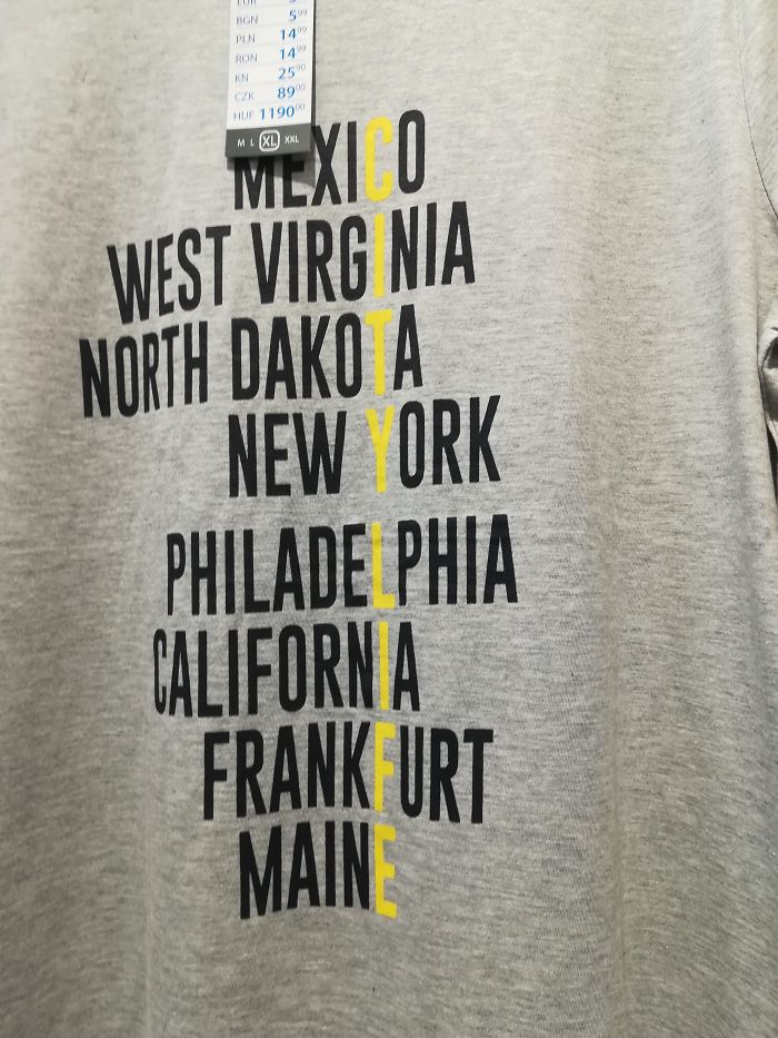 I Found This In The Store. There's Only 3 Cities