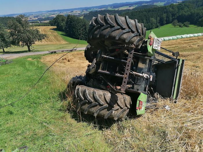 Well I Flipped A Tractor