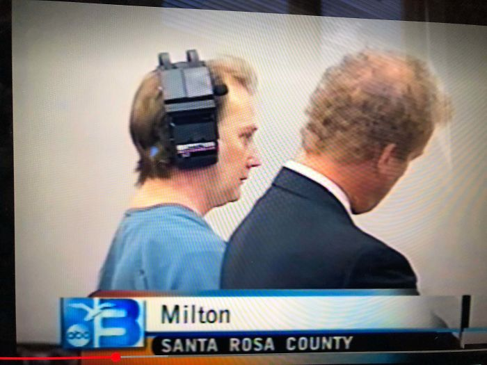 What Is This Thing On This Serial Killers Head While He Was In Court?
