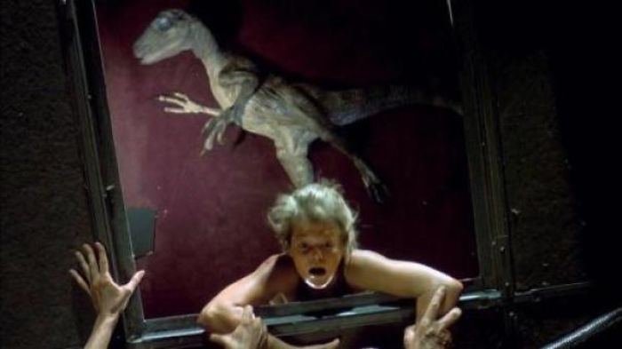 In Jurassic Park When Lex Falls Through The Ceiling, The Stunt Double Accidentally Looks Up, So Instead Of Filming The Scene Again, They Superimposed Lex's Face Over The Stunt Double