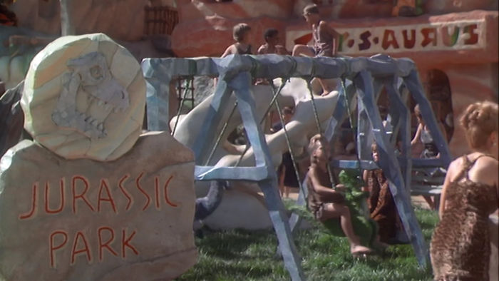In The Flintstones (1994), A Playground Is Shown Named Jurassic Park. Steven Spielberg Was An Executive Producer For The Film