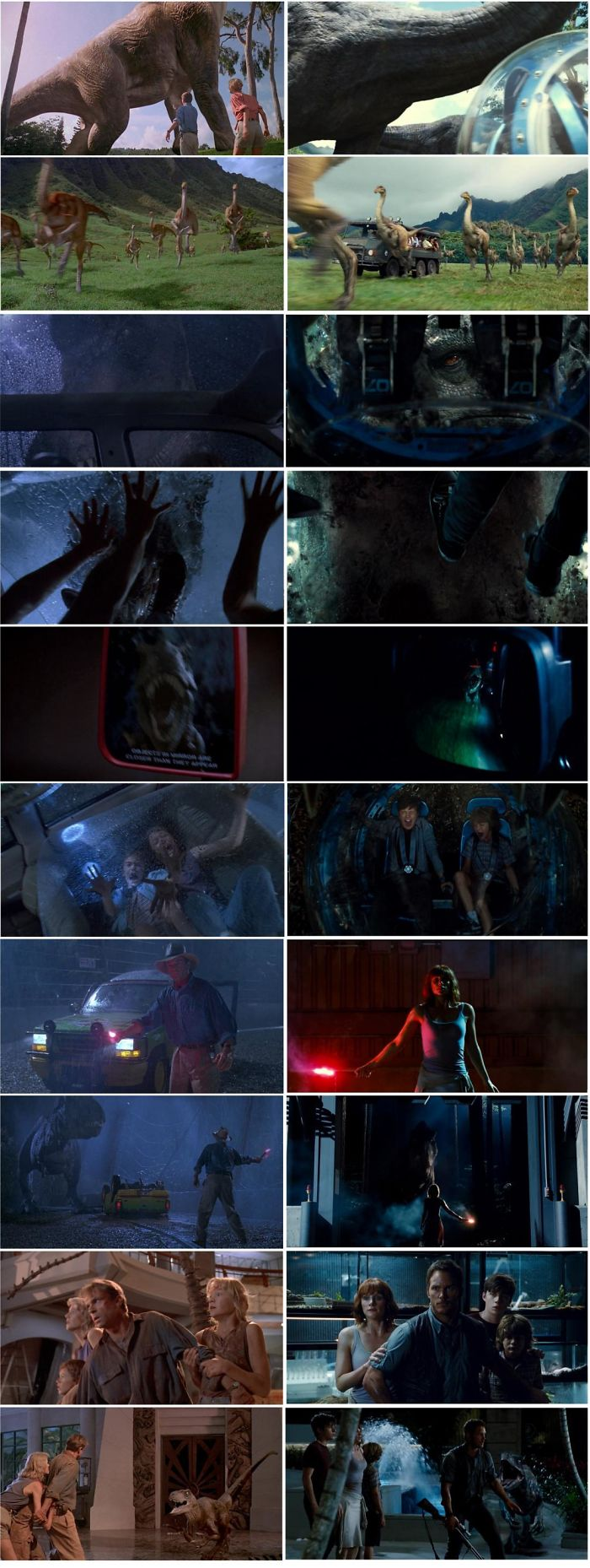 A List To All The Visual References That Jurassic World (2015) Did To Jurassic Park (1993)