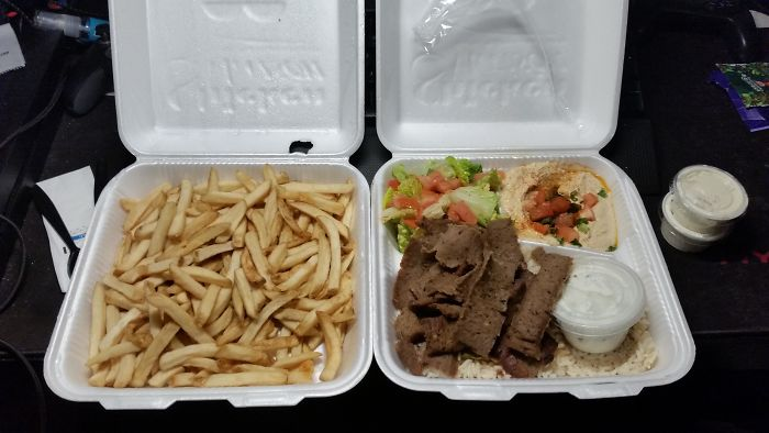 I Ordered A Gyro Plate And A Side Of Fries