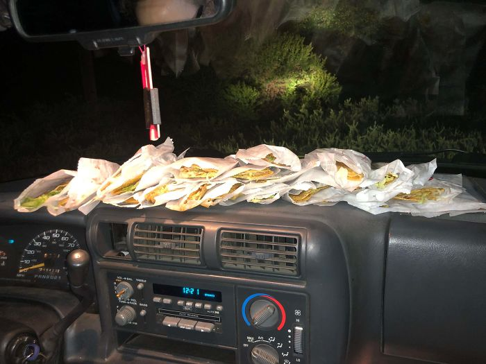 Ordered 12 Tacos At Jack In The Box At 2am, Drive Thru Person Must've Accidentally Put In 12 Twice Because We Were Asked Again How Many We Got At The Window, When We Said Twelve He Just Shrugged And Told Us To Take All Of Them (24). We Deliciously Complied