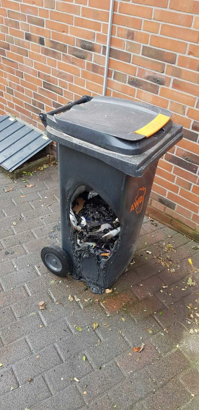 What Could Go Wrong If My Dumb Neighbor Put Hot Charcoal From His Grill Into A Trashcan