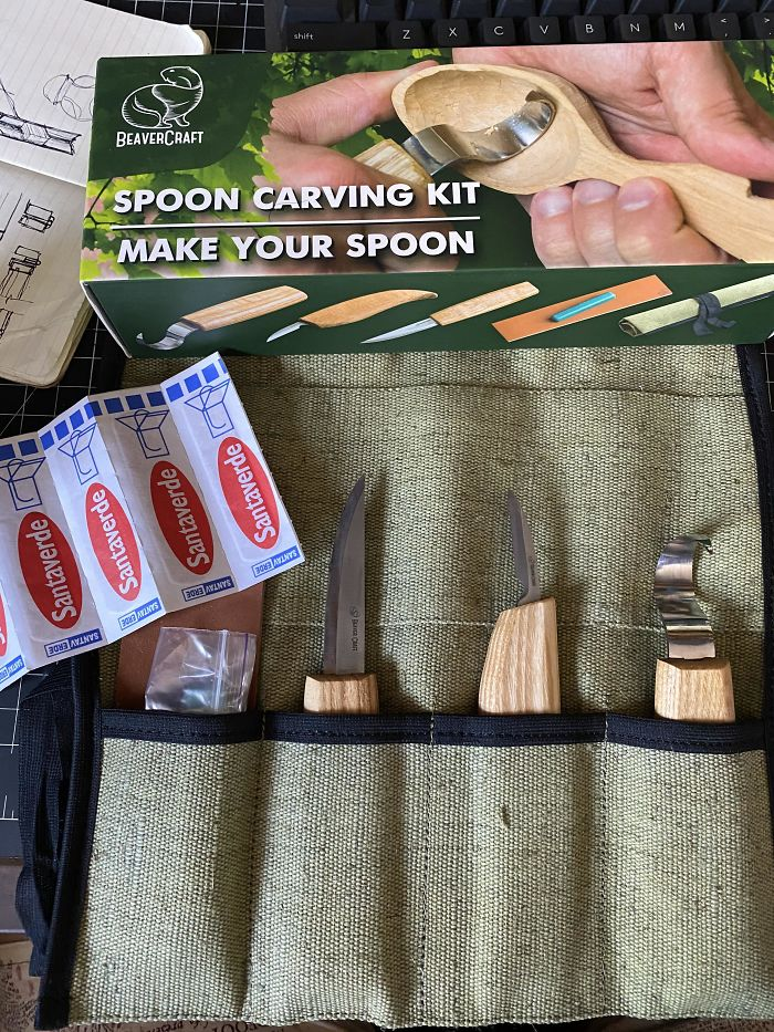 My Spoon Carving Kit Came With Bandaids
